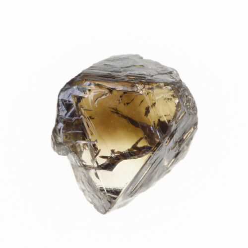 Crystal Shape Coffee Brown Color 1.67 Carat VS2 Clarity Natural Rough Diamond