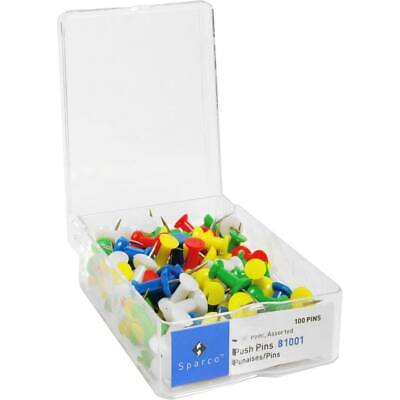 Business Source 12 Assorted Head Push Pins