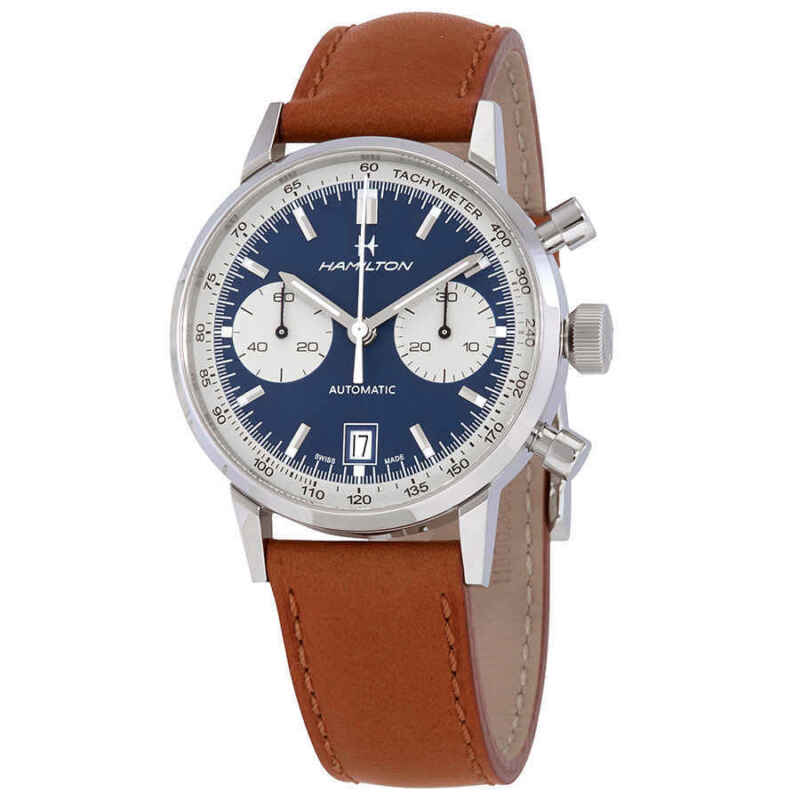Hamilton Intra-Matic Chronograph Automatic Blue Dial Men Watch H38416541
