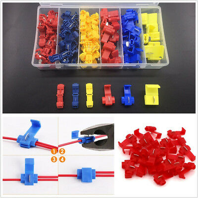 96 Pcs 3 Colors 22-10AWG 0.5-6mm Insulated Splice Wire Connector Crimp Terminals