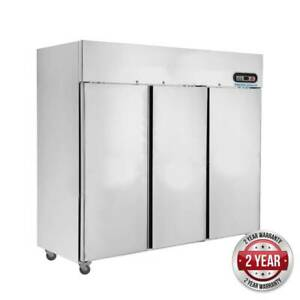 F.E.D Thermaster 1500L Three Door SS Upright Display Freezer |SUF