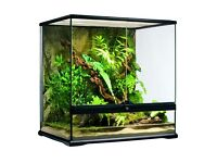 Exo terra 45x45x45cm cube terrarium glass vivarium with light unit compact top