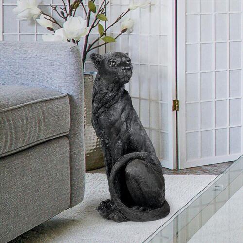 Black Panther Jaguar Leopard Exotic Garden Statue Sculpture Home Yard Decor