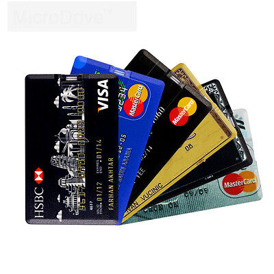 USB 2.0 Flash Memory Stick 16GB 32GB Credit Card Storgae Pen Drive U Disk