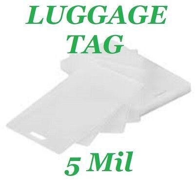 100 Luggage Tag Laminating Laminator Pouches Sheets Wslot 2-12 X 4-14 5 Mil