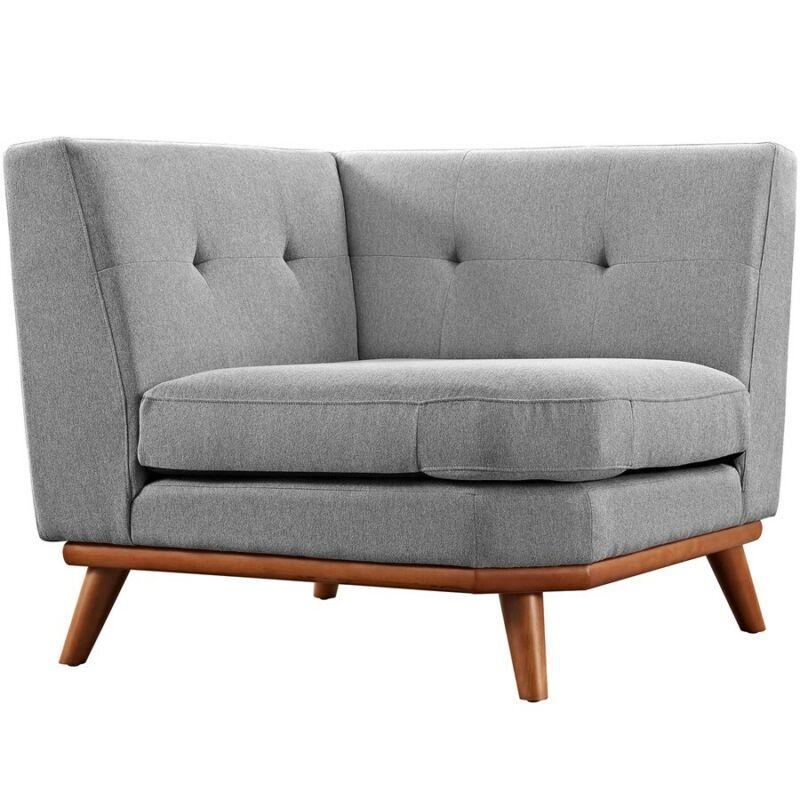 Modway Furniture Engage Corner Sofa, Expectation Gray - Eei-1796-gry