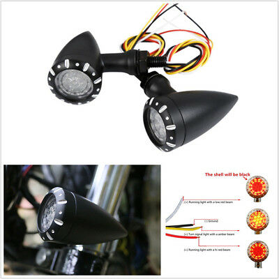 1 PAIR DC12V DUAL COLOR LED MOTORCYCLES TURN SIGNAL TAIL LIGHTS BRAKE