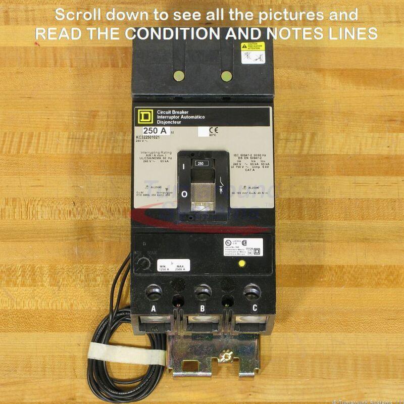 Square D Kc322501021 Circuit Breaker, 250 Amp, New