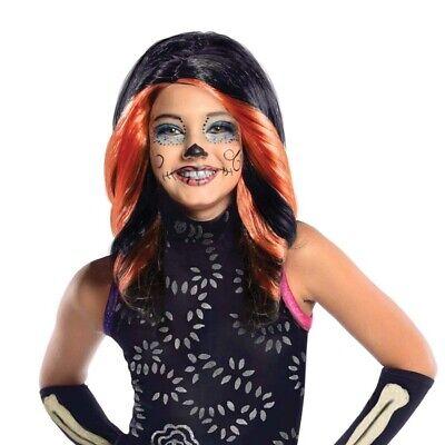 MONSTER HIGH KINDER PERÜCKE Halloween Skelita Calaveras Mädchen Kostüm (Calavera Kostüm)