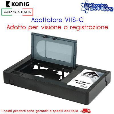 ADATTATORE VHS PER CASSETTE VIDEOCAMERA VHS-C AUTOMATICO QUESTO ADATTATORE PERME