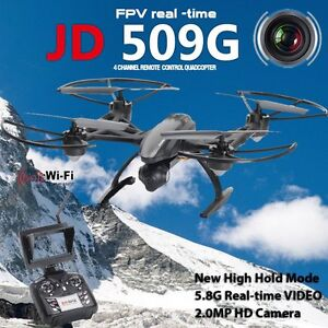 2MP HD camera JD509 FPV 2.4Ghz 4CH RC 6 Axis Quadcopter Drone with RTF