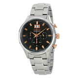 Seiko Men's SPC151 Quartz Chronograph Black Dial Stainless Steel Watch