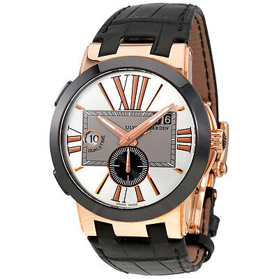Ulysse Nardin Executive Dual Time 18 Carat Rose Gold Automatic Mens Watch
