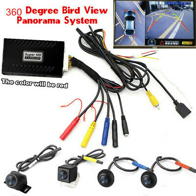 12V 360° Bird View HD Car Panoramic System DVR Video Recorder Matte Night Vision