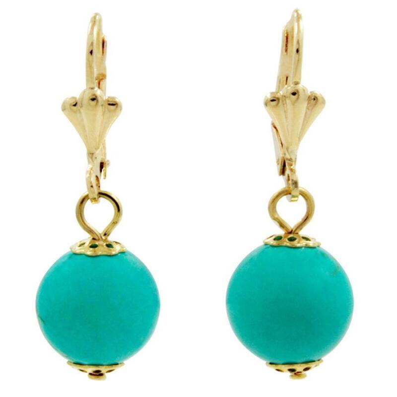 gold turquoise earrings ebay. Black Bedroom Furniture Sets. Home Design Ideas