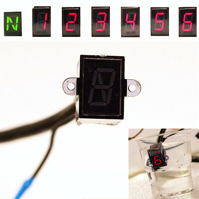 LED Motorcycle Gear Indicator Light N-6 Speed Shift Clutch Lever Gauge Universal