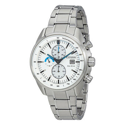Citizen Eco-Drive Men's CA0590-82A Chronograph Silver-Tone Sport 44mm Watch