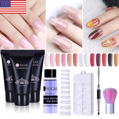 Poly UV Gel Polish Finger Nail Extension Jelly Quick Building Gel Acrylic Tools
