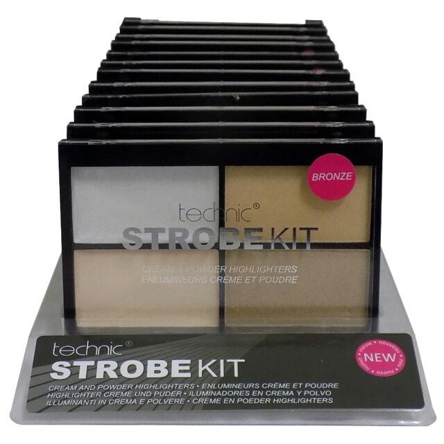 Technic Strobe Kit Cream & Powder Highlighter Palette Bronze Contour