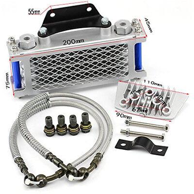 Motorcycle Aluminum Oil Cooler Radiator For 50 70 90 110CC Dirt Pit Bike Racing
