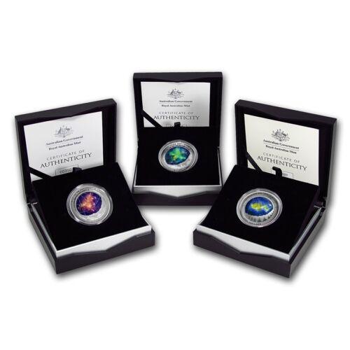 Northern Sky FULL SET $5 Coloured Silver Coins, Cassiopeia, Ursa Major & Cygnus
