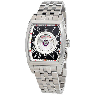 Perrelet Double Rotor Automatic Silver and Grey Dial Mens Watch A1029/G