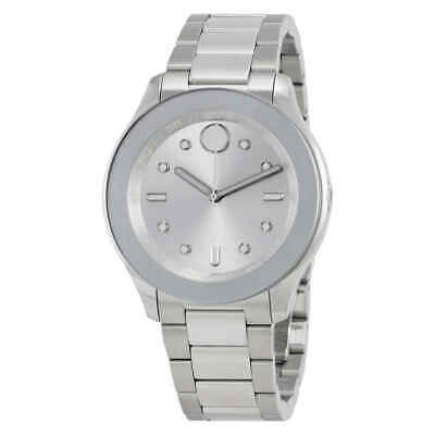 Movado Bold Silver Dial Stainless Steel Ladies Watch 3600415