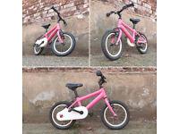 "Kids Bike, 14"" Wheel, Suit 4-6 year old."