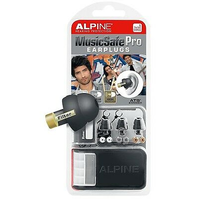Alpine MusicSafe Pro Earplugs In Case, Black