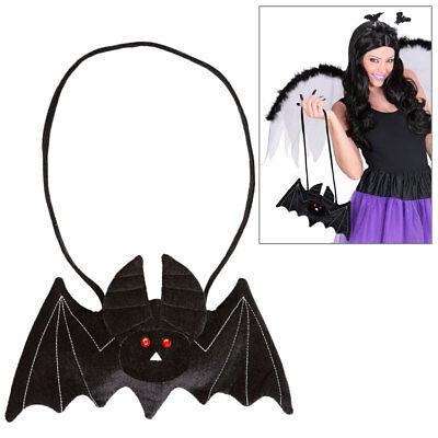 FLEDERMAUS HANDTASCHE Samt Hexe Zauberin Bag Tasche Halloween Kostüm Party 9564