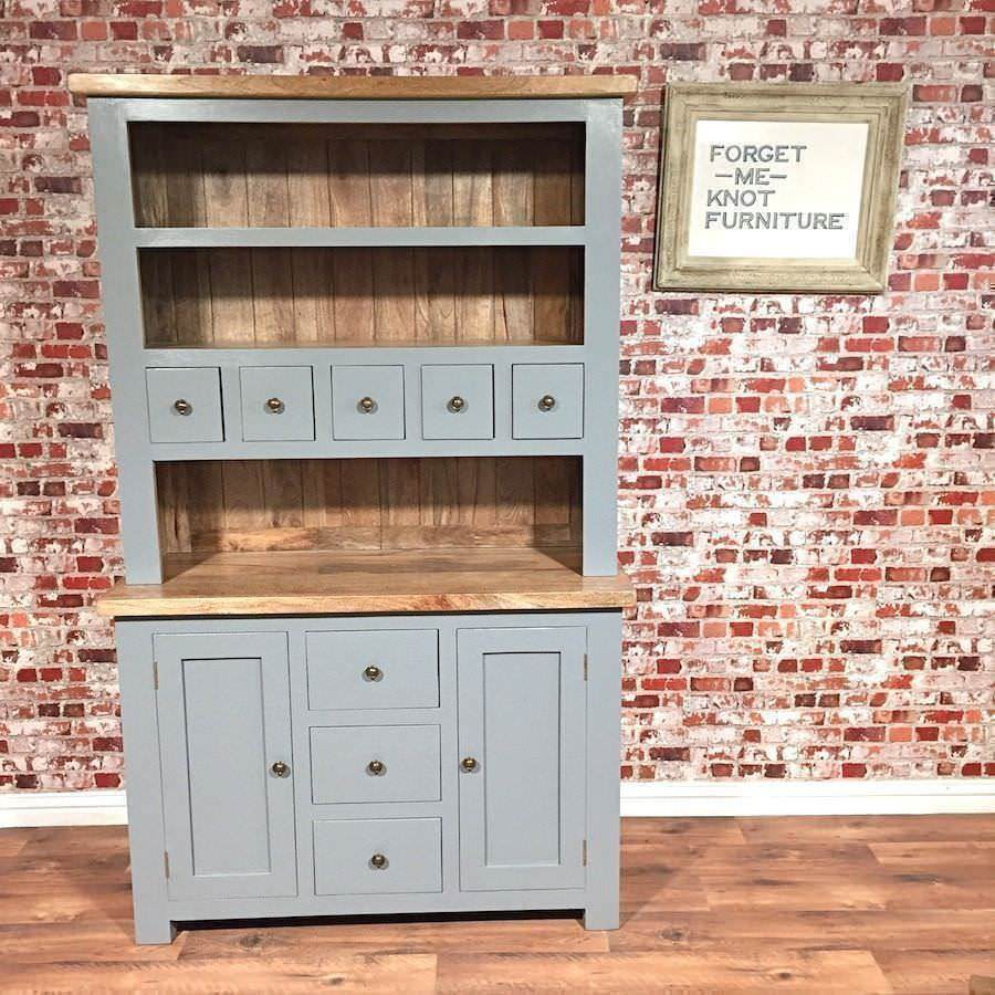 Rustic Welsh Dresser Farmhouse Style Made From Chunky Hardwood Free Delivery