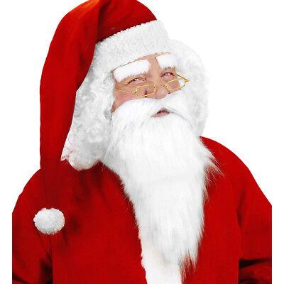 WEIHNACHTSMANNBART Weihnachtsmann Nikolaus Bart & Augenbrauen Kostüm Party - Weiße Augenbrauen Kostüm