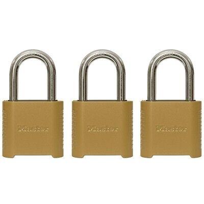 Master Lock 3-pack 2-in W Zinc Combination Padlock