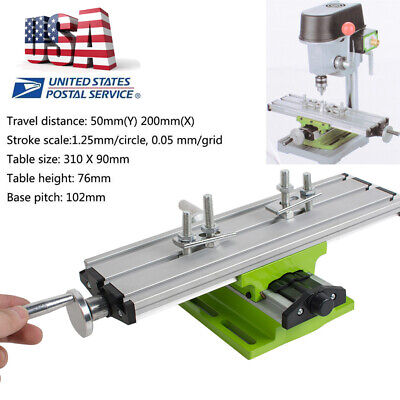 Us Milling Compound Cross Sliding Bench Drill X Y-axis Adjustment Working Table