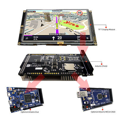 5 Inch 480x272 Tft Lcd Resistive Touch Shield For Arduino Duemega 2560 Library