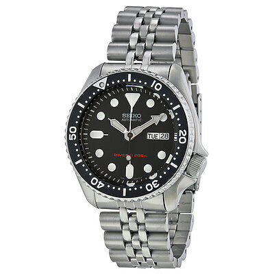Seiko SKX007 Automatic Black Dial Stainless Steel 200m Diver Watch SKX007K2