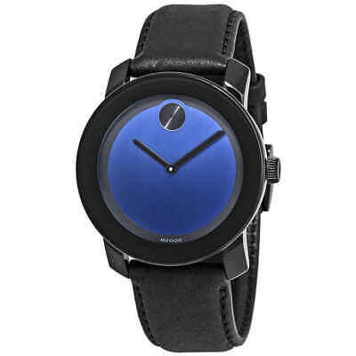 Movado Bold Black / Blue Dial Men's Watch 3600481