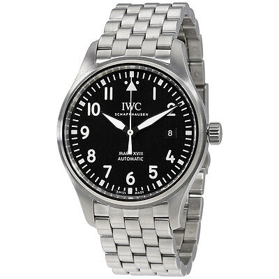 IWC Pilot Automatic Black Dial Mens Watch IW327011