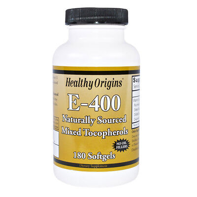Healthy Origins Vitamin E 400 IU 180 softgels - VITAMINE