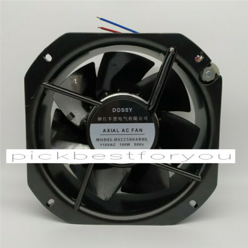 1PC DOSSY DS22580ABHL 110VAC 100W 225*225*80MM Fan 90 warranty #M325D QL