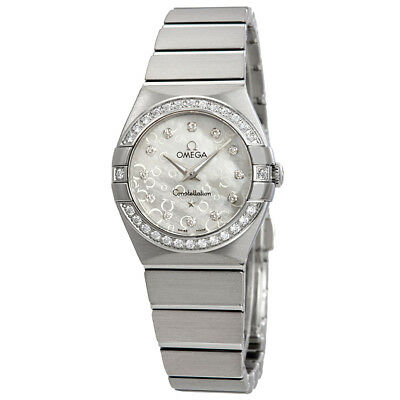 Omega Constellation Mother of Pearl Diamond Dial Stainless Steel Ladies 24 mm Wa