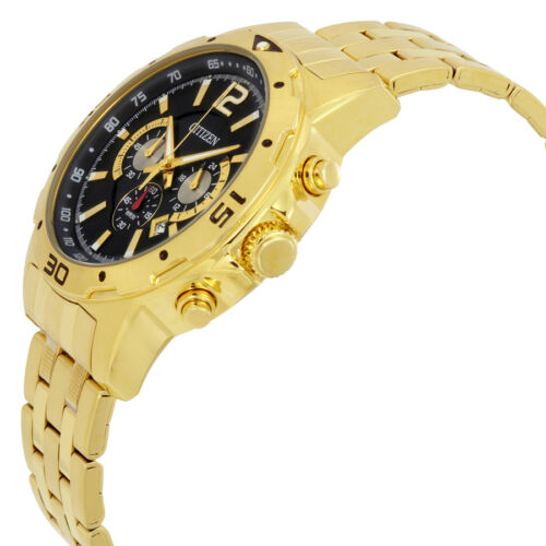 Citizen Chronograph Mens Gold Tone Watch AN8102-59E