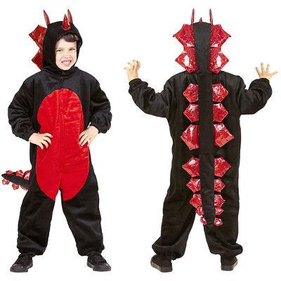 KINDER DRACHEN KOSTÜM # Karneval Jungen Dino Saurier Monster Echse Overall 9686