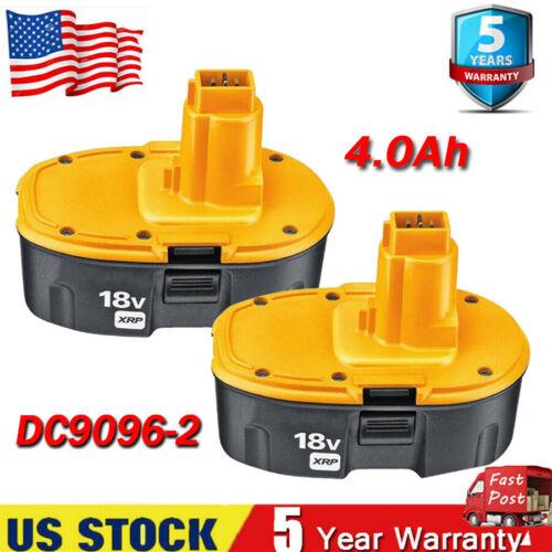 2 Pack 18V 4000mAh 18 Volt for Dewalt XRP Battery DC9096-2 DC9098 DC9099 DW9096