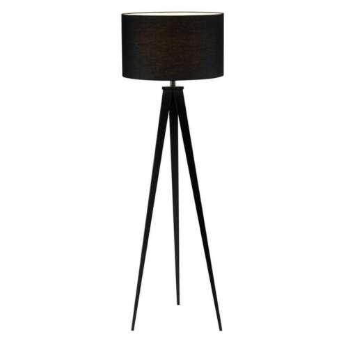 Adesso 6424–01 Director Floor Lamp - Black Tripod Floor La