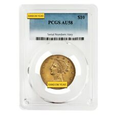 $10 Liberty Head Gold Eagle PCGS AU 58 (Random Year)