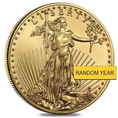 1 2 Oz Gold American Eagle Bu  Random Year