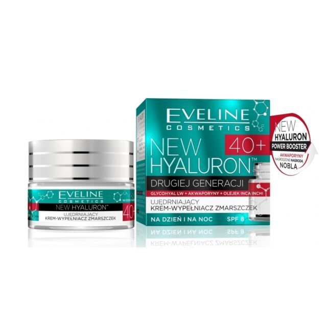 Eveline Cream Day Night Anti Wrinkle bio Hyaluron Moisturizing Face Lifting 40+