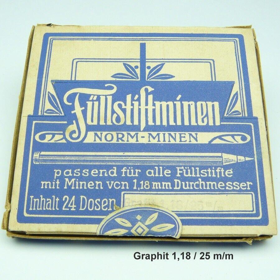 Füllstiftminen, NORMMINEN, 24 DOSEN 1,18 / 25 mm,   Druckbleistift, Füllstift,