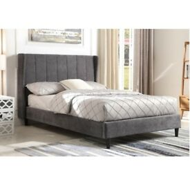 AMELIA 4FT6 Dark Grey Fabric Frame ONLY £169 (See Description)